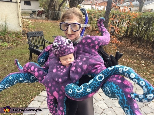 Finished Costume, Octopus Baby Costume