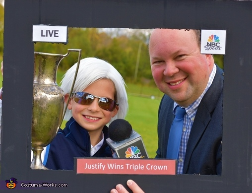 An interview with the winning trainer., Off to the Races! Costume
