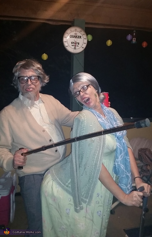 Lenerd and Pearl, Old Couple Costume