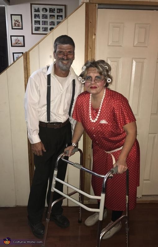Diy Old Couple Halloween Costume