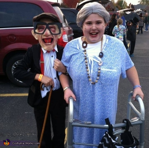 Old Couple Costume  sc 1 st  Costume Works & Old Couple Kids Halloween Costume