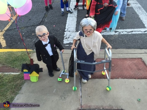 Old Lady and Carl from Up Costume