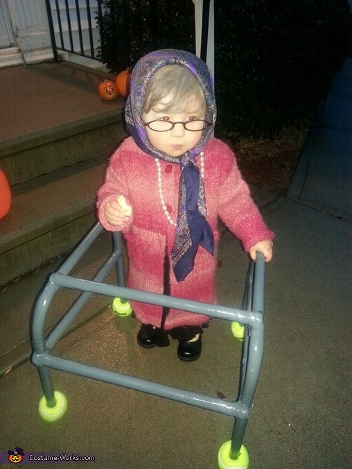 Old Lady Button Baby Costume