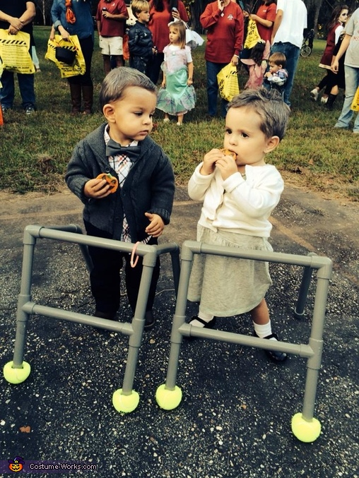 Old Man and Old Woman Twin Babies Costume