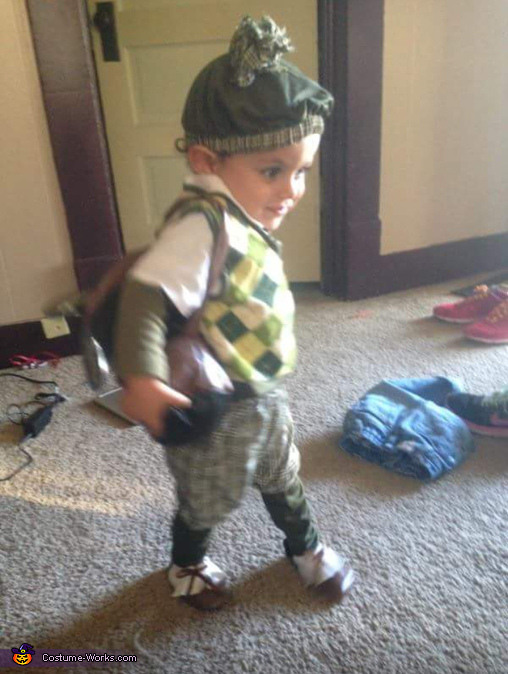 The Little Old Time Golfer!  , Old Time Golfer Costume