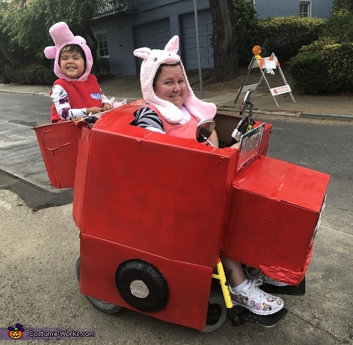 Peppa Pig and Momma Driving Homemade Costume
