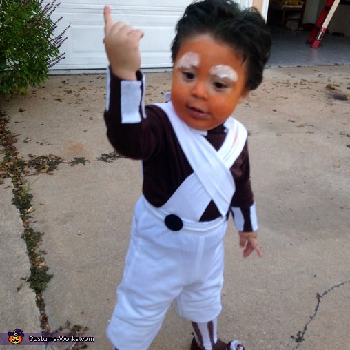 Baby Tony - Halloween 2014, Oompa Loompa Costume