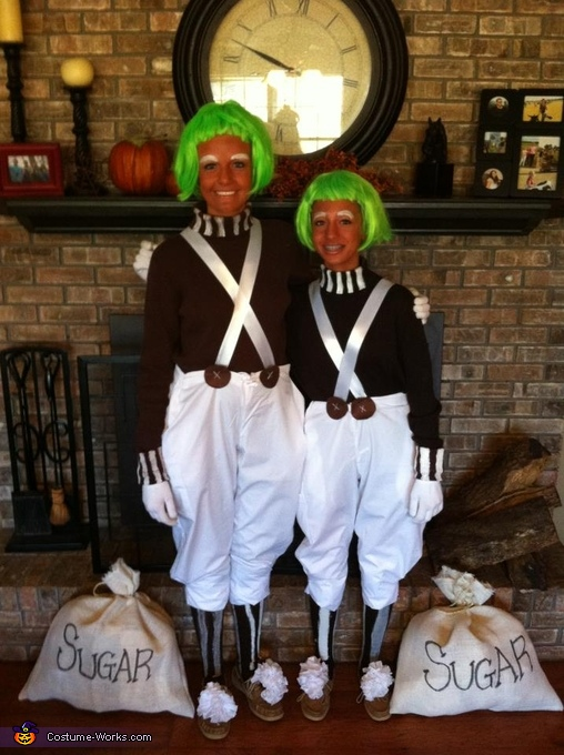Oompa Loompas - Homemade costumes for girls