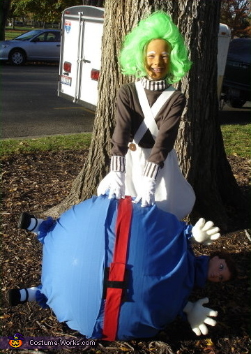 Oompa Loompa - Homemade costumes for girls