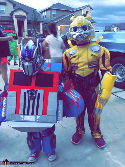 Optimus prime. Ethan, Optimus Prime Costume