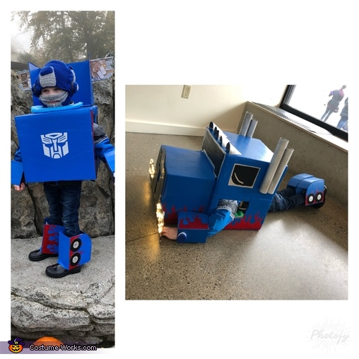 Optimus Prime, DIY Transforming Optimus Prime Costume