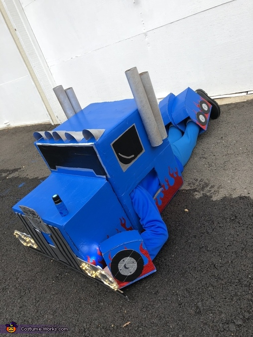 DIY Transforming Optimus Prime Costume