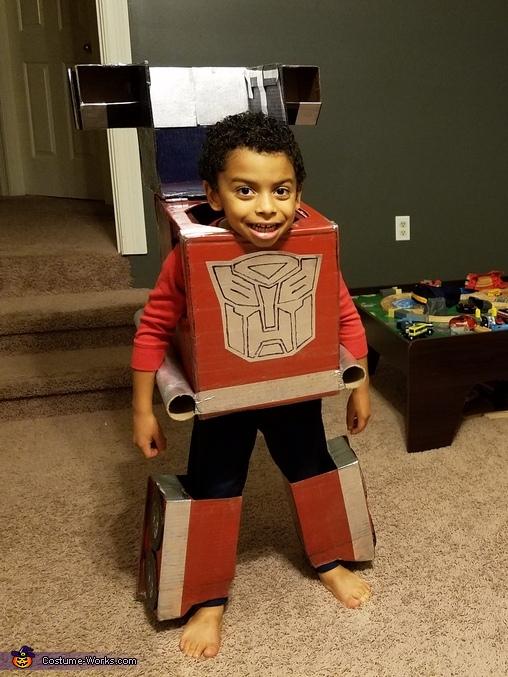 DIY Optimus Prime Costume