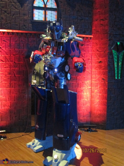 Ready for action, Dark of the Moon Optimus Prime Costume