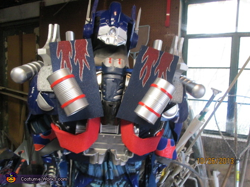 Back view, Dark of the Moon Optimus Prime Costume