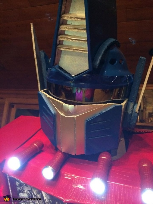Helmet close-up. , Optimus Prime Costume