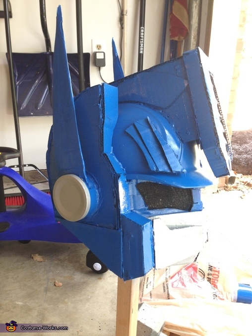 Helmet detail, Optimus Prime Costume