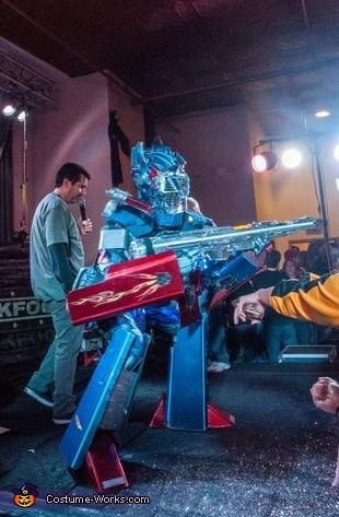 Homemade Optimus Prime Adult Costume