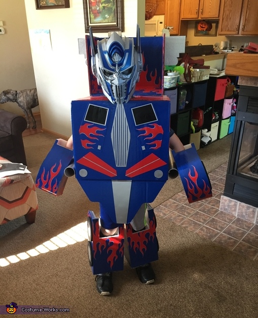 DIY Optimus Prime Costume for Boys