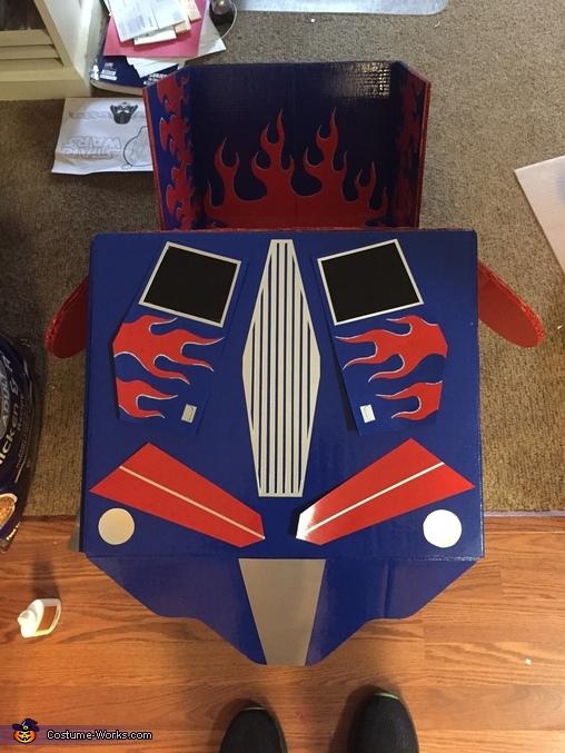 Chest piece, DIY Optimus Prime Costume for Boys
