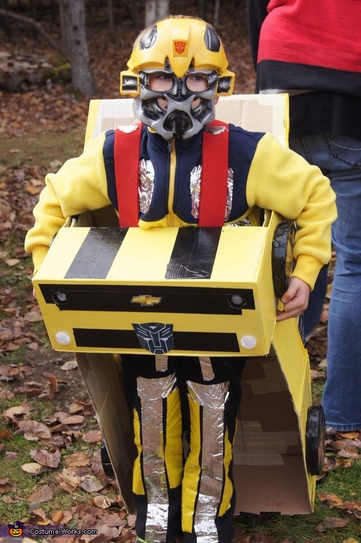 Optimus Prime and Bumblebee Homemade Costumes