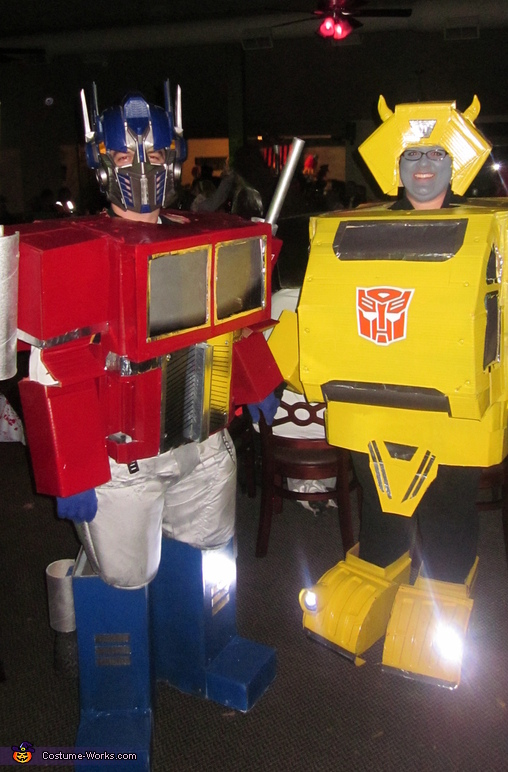 Optimus Prime and Bumblebee Couple Costume