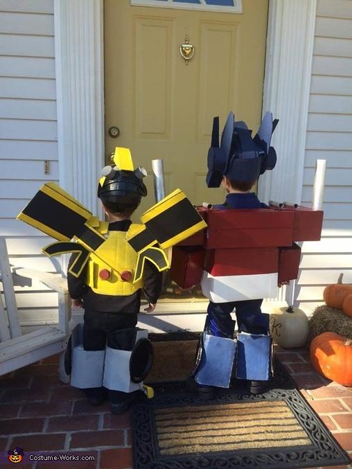 Optimus Prime and Bumblebee Transformers Homemade Costume