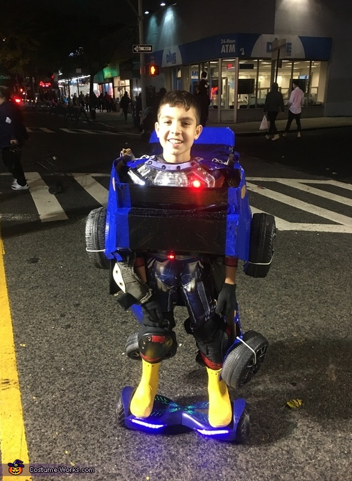 Optimus Prime as Bumblebee Costume