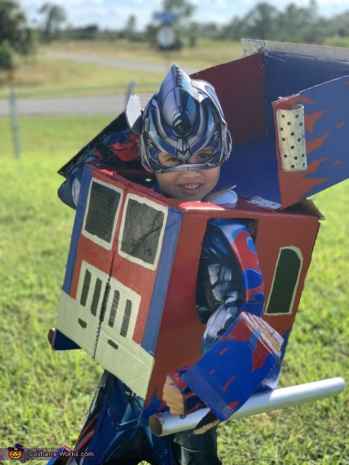 Optimus Prime Transformers Homemade Costume