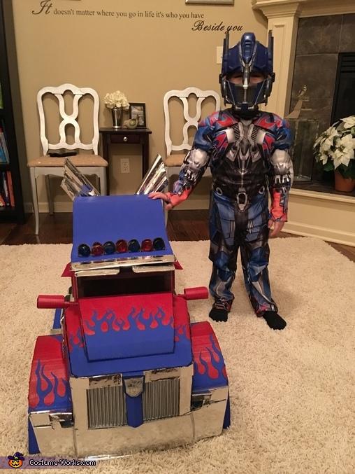 Optimus Prime Transforming Costume