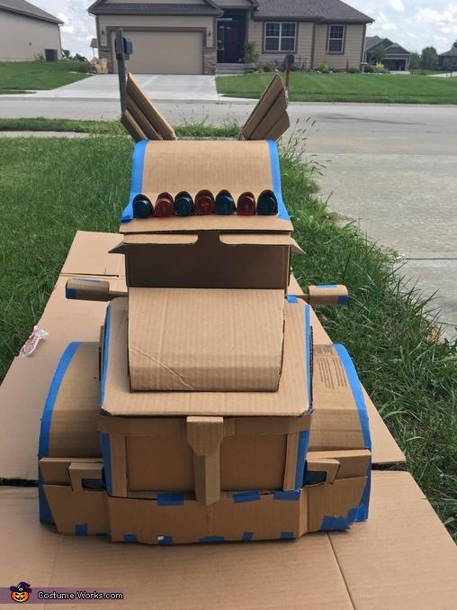 Front prior to paint, Optimus Prime Transforming Costume