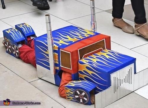 Optimus Prime Transforming Truck Homemade Costume