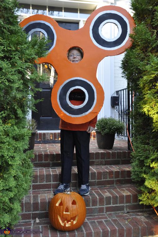 Orange Fidget Spinner Costume