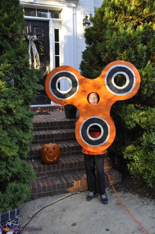 Fidget Spinner ready to trick or treat!, Orange Fidget Spinner Costume