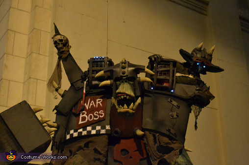 In the alley, Warhammer Orc Warboss Costume