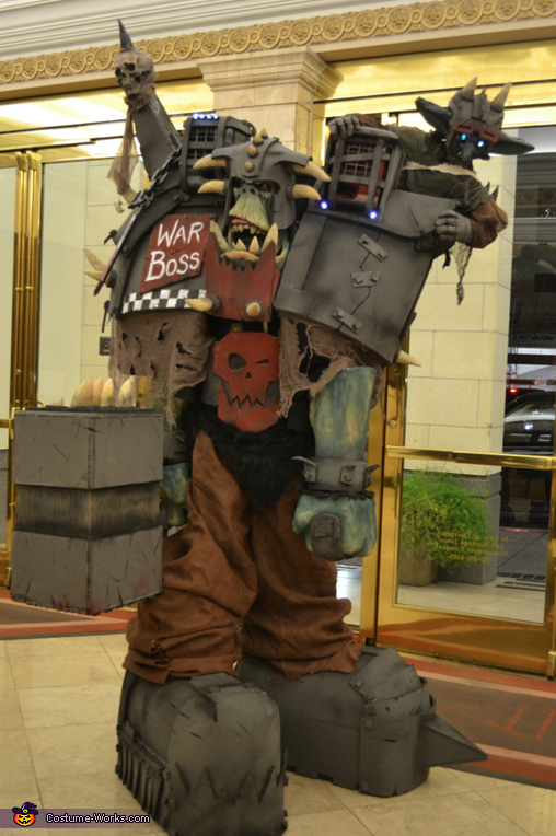 Getting suited up, Warhammer Orc Warboss Costume