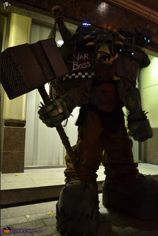 In the shadows, Warhammer Orc Warboss Costume