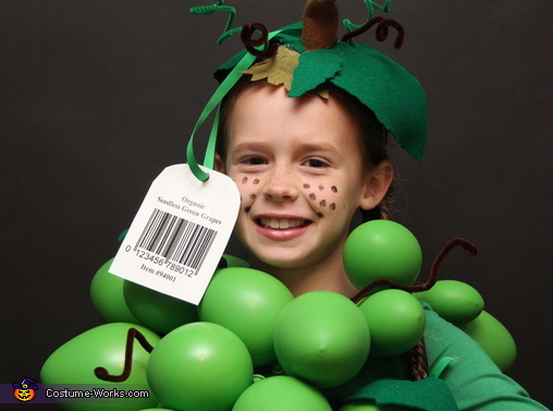 Organic Grapes Homemade Costume