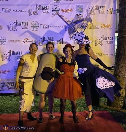 Friends celebrating!, Origami Paper Crane Costume