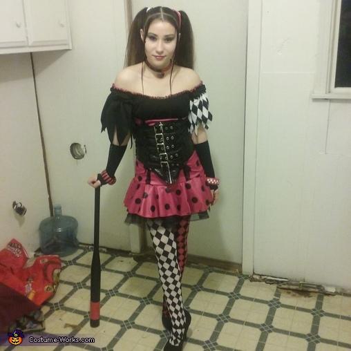 original black and red Harley Quinn, Original Black and Red Harley Quinn Costume