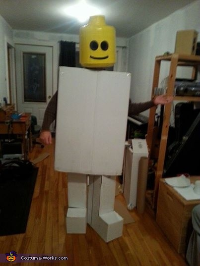 with legs, but I wasn't able to walk..., Original LEGO Man Costume