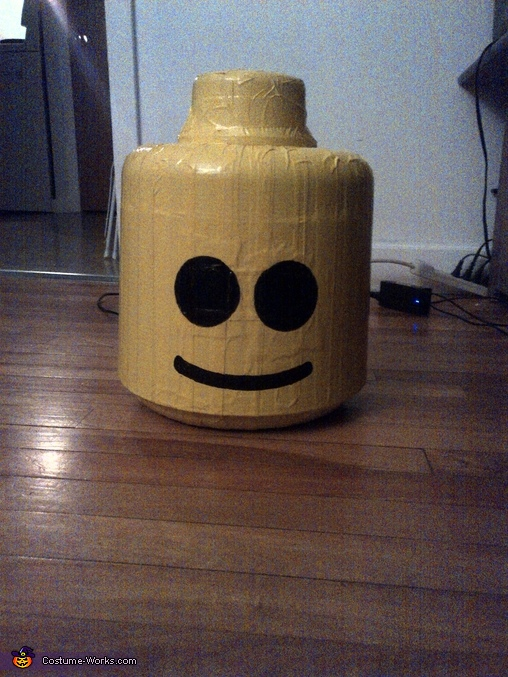 the head, finished, Original LEGO Man Costume