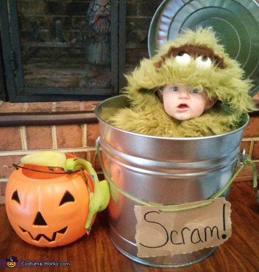 DIY Oscar the Grouch Baby Costume