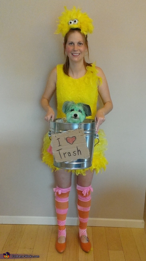 Oscar the Grouch and Friends Homemade Costume