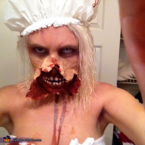 "Thinking about brains., ""Out of the Shower"" Zombie Costume"