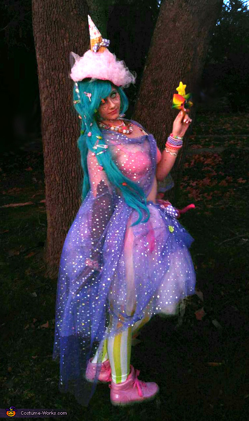 Back View, Over the Top Candy Witch Costume