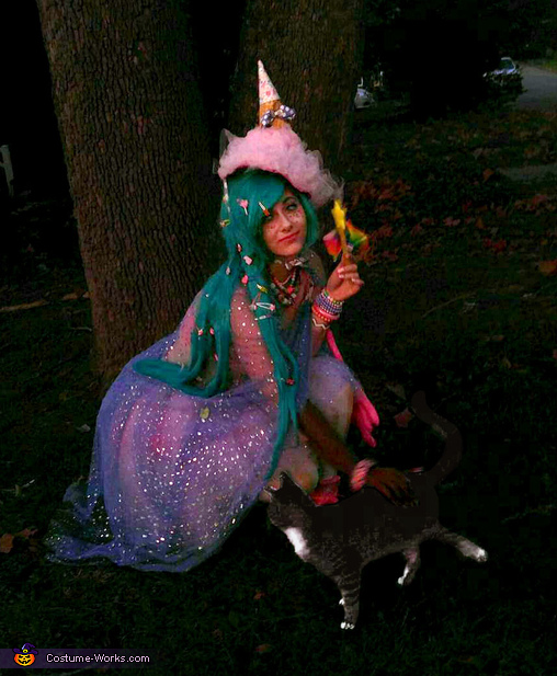 Cat Photo Bomb, Over the Top Candy Witch Costume