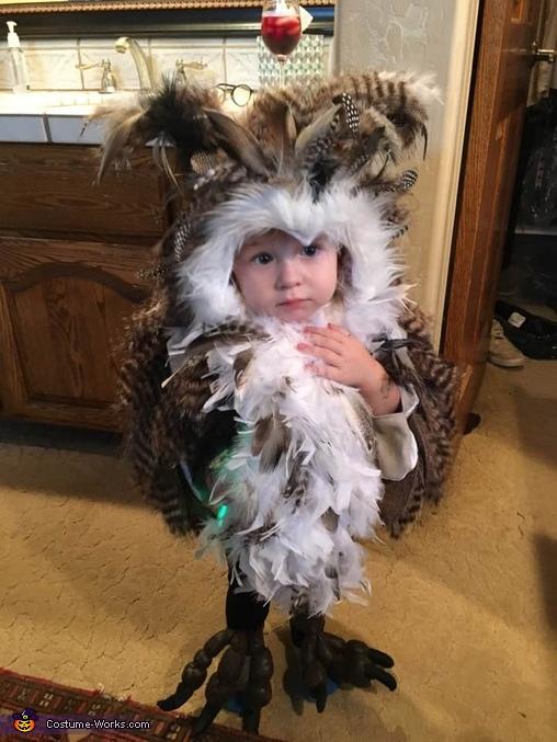 DIY Owl Baby Costume