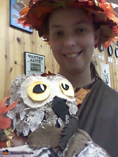 Owl on a Tree Homemade Costume