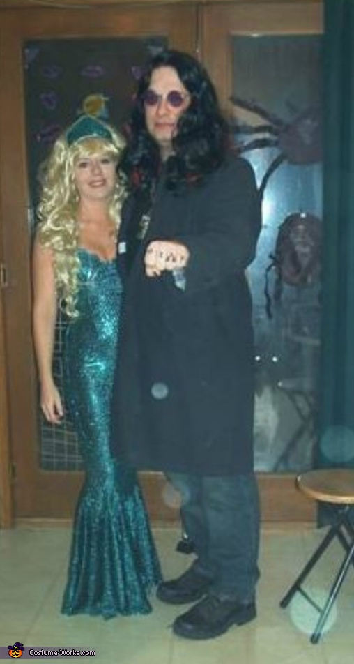 Ozzy Osbourne & Mermaid Costume
